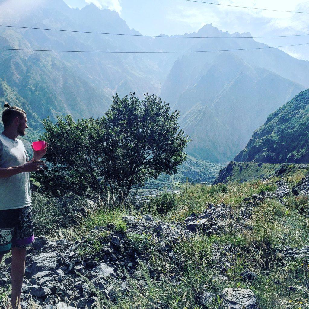 Утренний чай в горах!