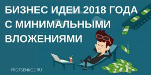 Бизнес-идеи 2018 года с минимальными вложениями + пошаговое руководство по реализации этих идей